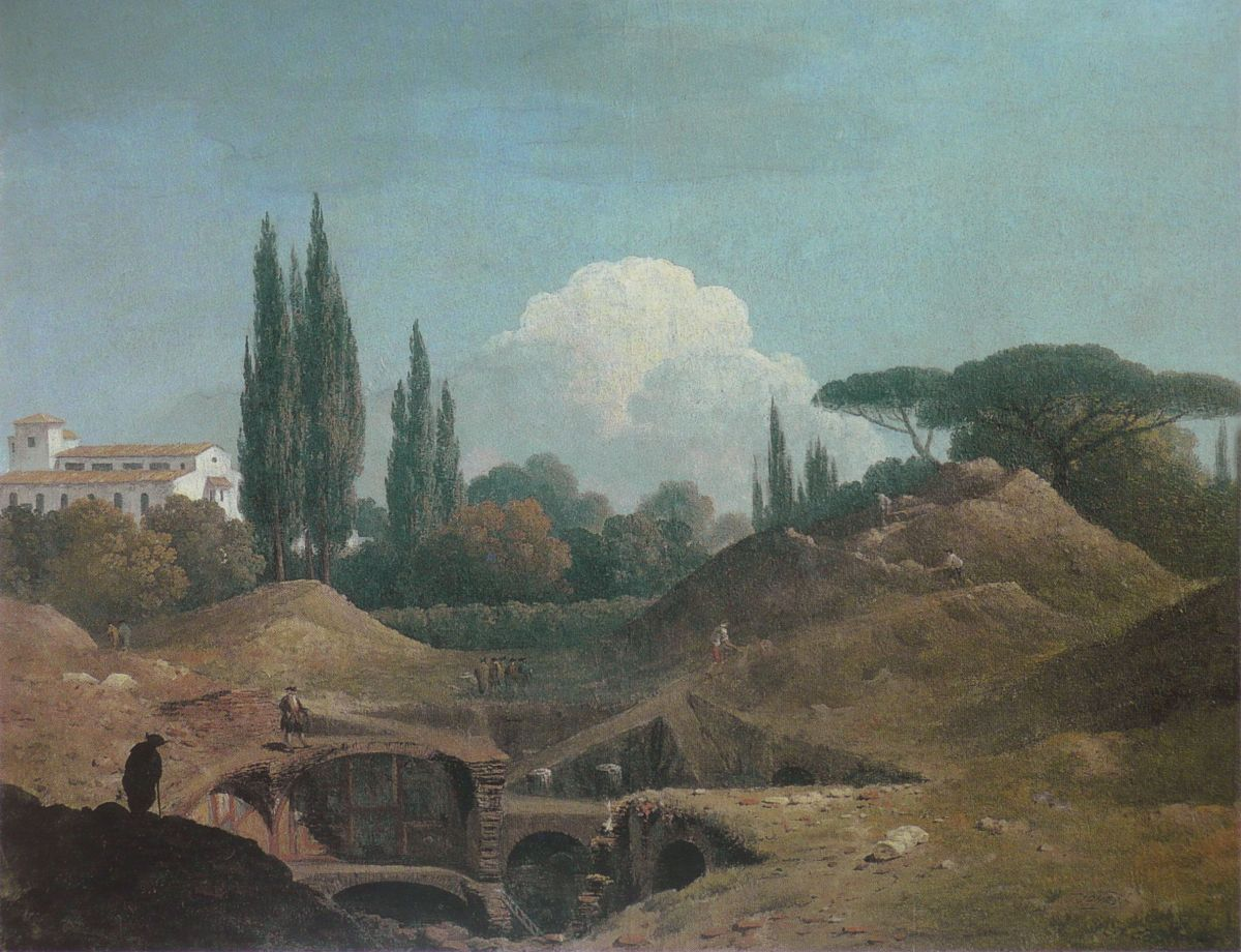 An Excavation of an Antique Building in a Cava in the Villa Negroni, Rome by Thomas Jones
