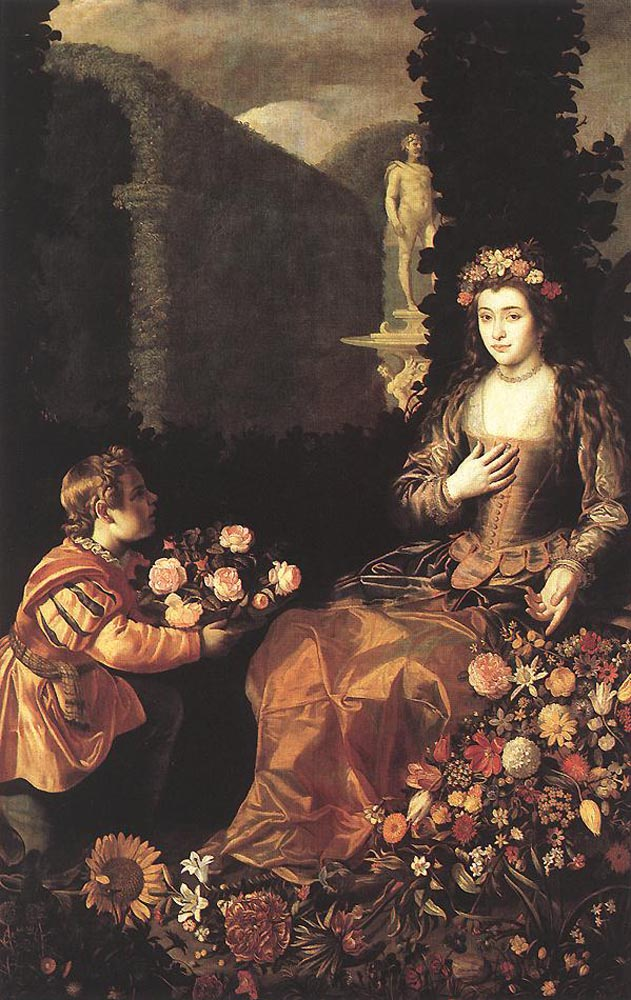 Flora by Juan van der Hamen-Portrait Painting