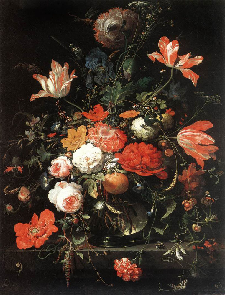 Flowers by Abraham Mignon