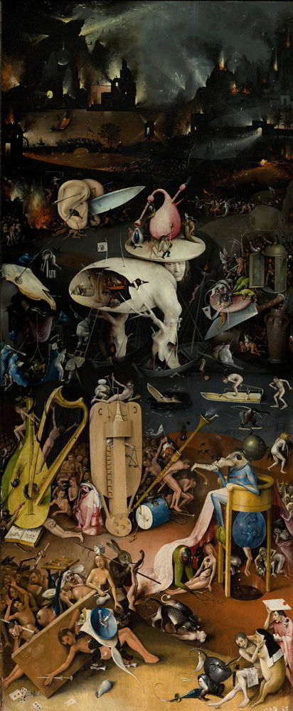 Garden of Earthly Delights, right wing by Hieronymus Bosch