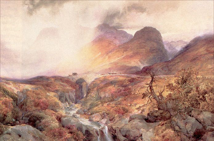 Pass at Glencoe Scotland by Thomas Moran