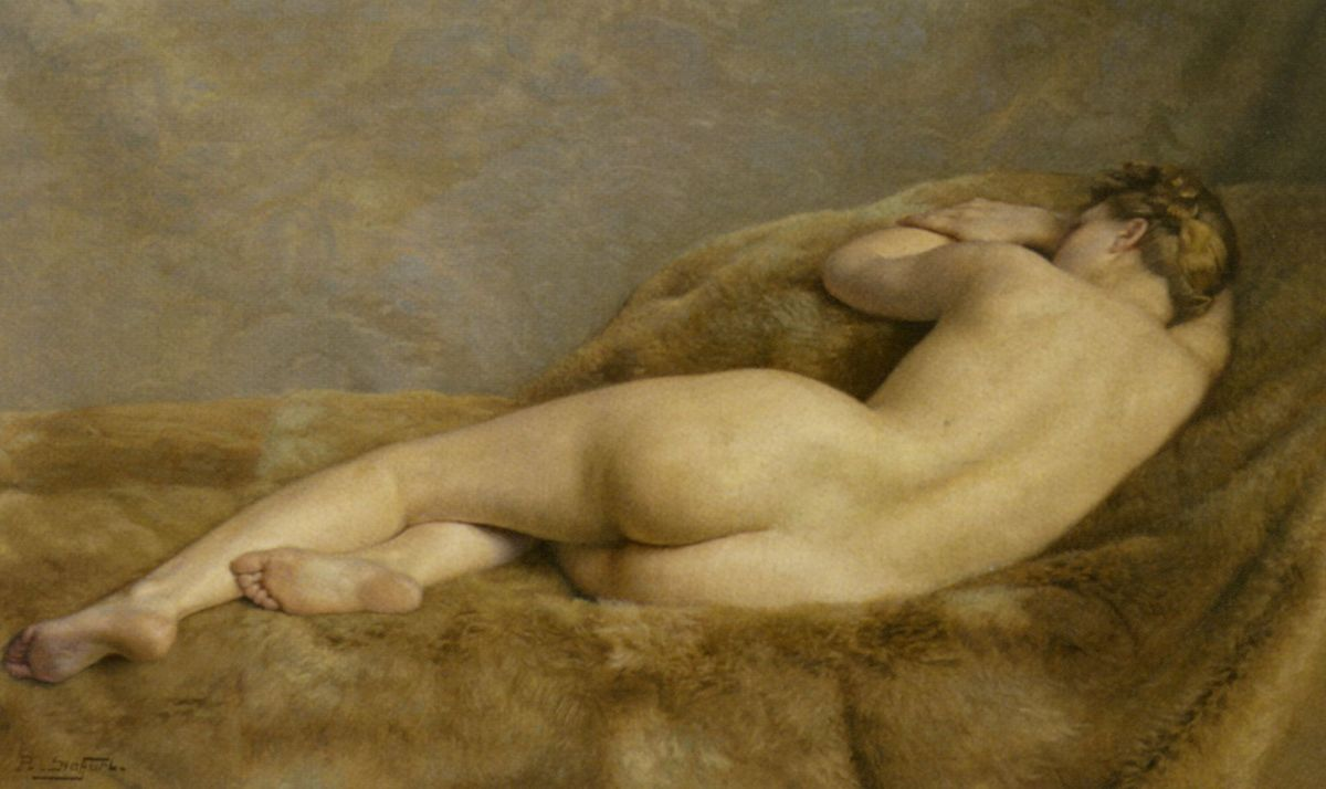 Reclining Nude by Paul Sieffert-French Painting