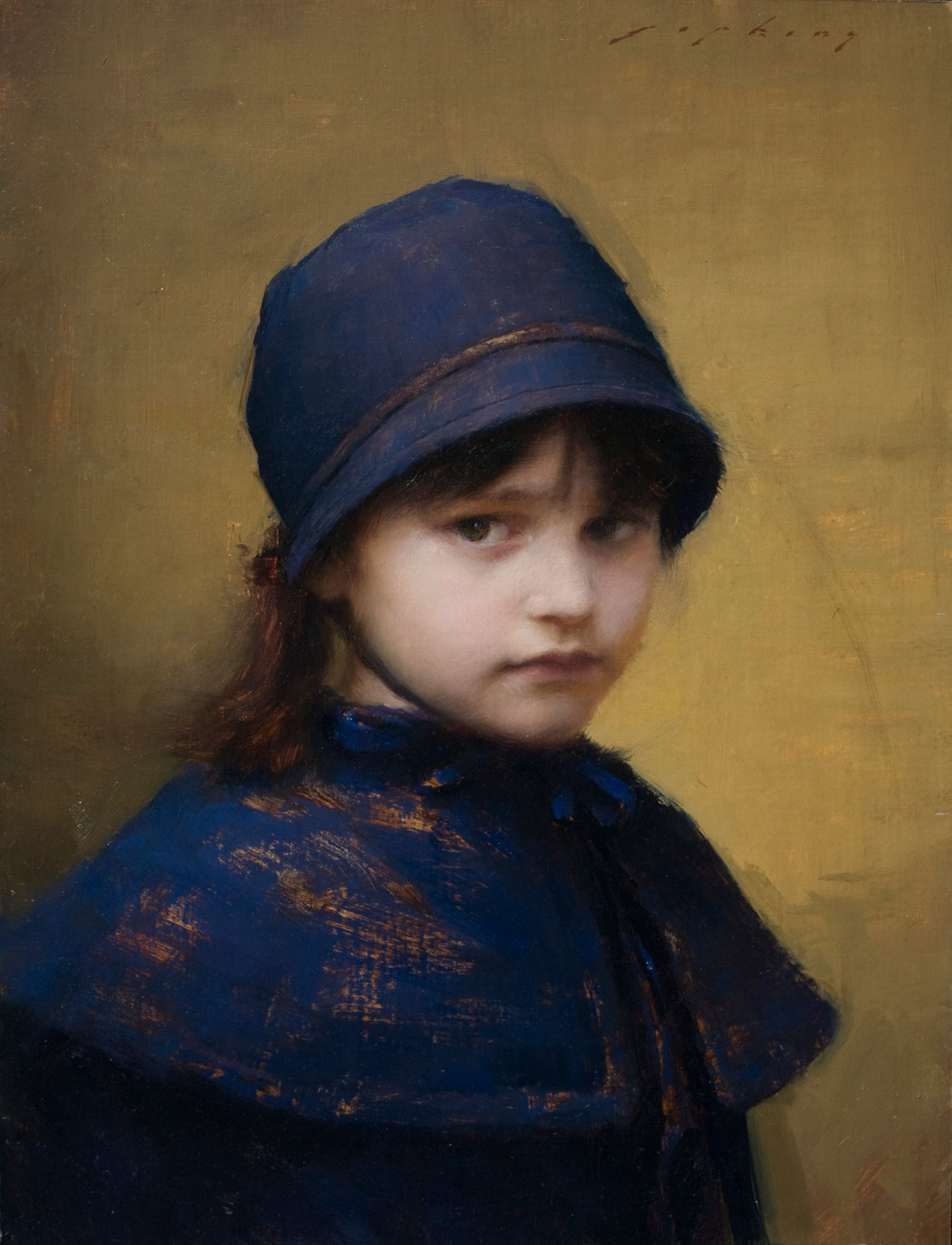 Skylar in Blue by Jeremy Lipking