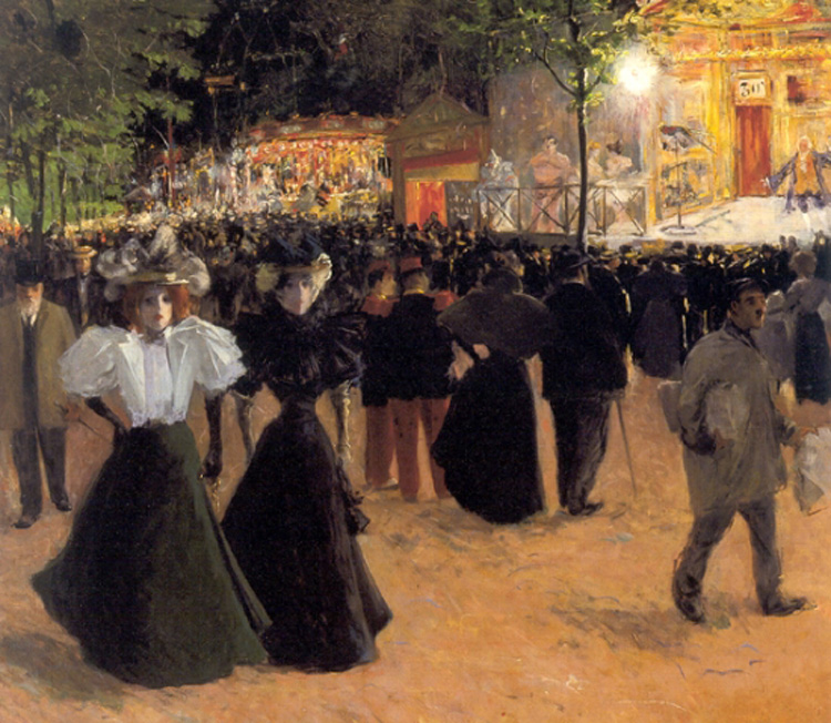 La Fête Forain, Place Pigalle by Louis Abel Truchet