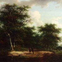 Travellers In An Extensive Landscape by Andreas Schelfhout