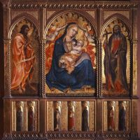 Virgin and Child with St John the Baptist and St Andrew by Taddeo Di Bartolo