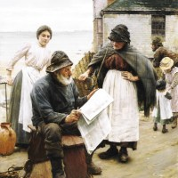 When the Boats are Away by Walter Langley
