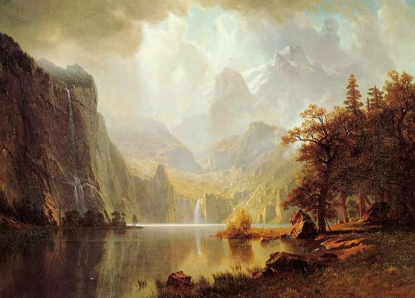 In the Mountains by Albert Bierstadt
