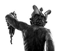 perseus with the head of medusa - the back side