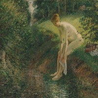 Bather in the Woods by Camille Pissarro