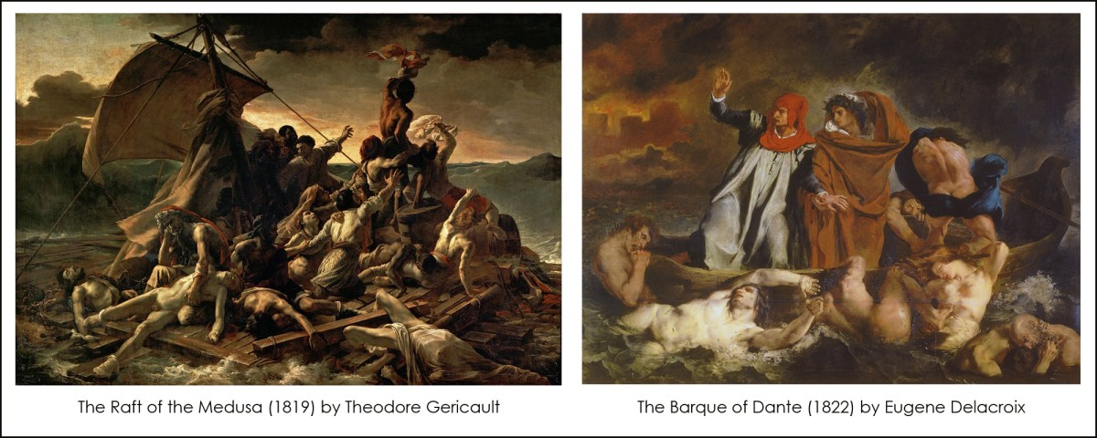 Paintings of Theodore Gericault and Eugene Delacroix