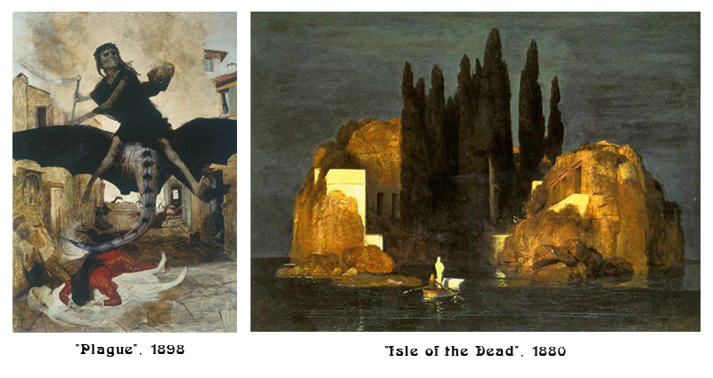 Plague and Isle of The Dead Paintings