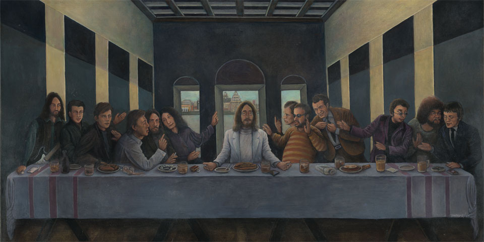 Fifth Beatle, a pastiche of The Last Supper by Victor Bonderoff