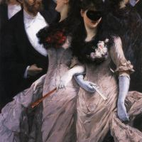 At the Masquerade by Charles Hermans