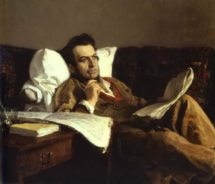 Portrait of the Composer Mikhail Glinka by Ilya Repin
