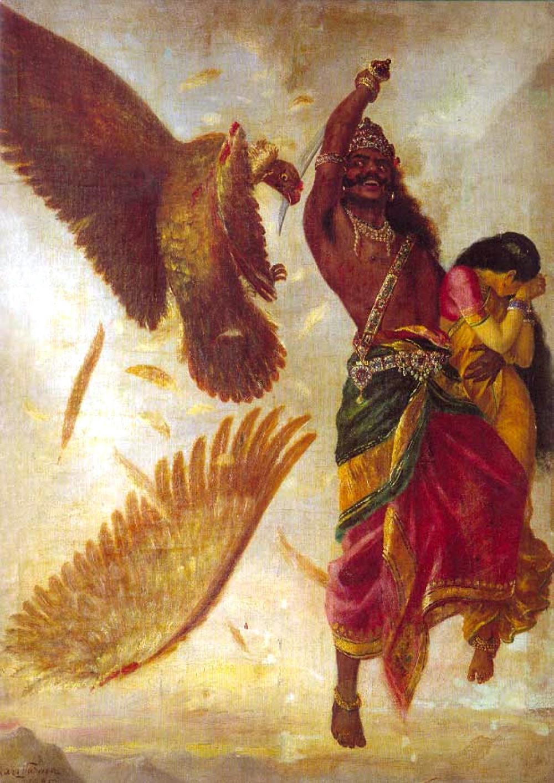 Jatayu Vadham by Raja Ravi Varma