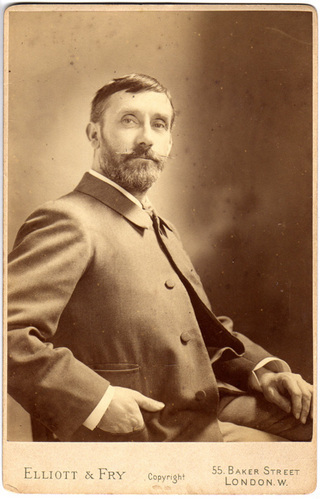 Photographic portrait of Walter Langley