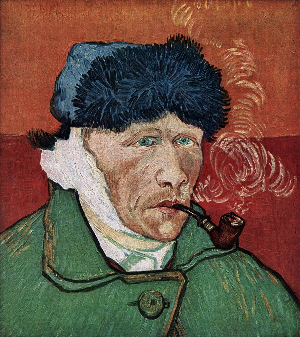 Self-Portrait with Bandaged Ear and Pipe by Vincent Van Gogh