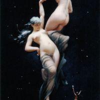 Moonlit Beauties by Luis Ricardo Falero