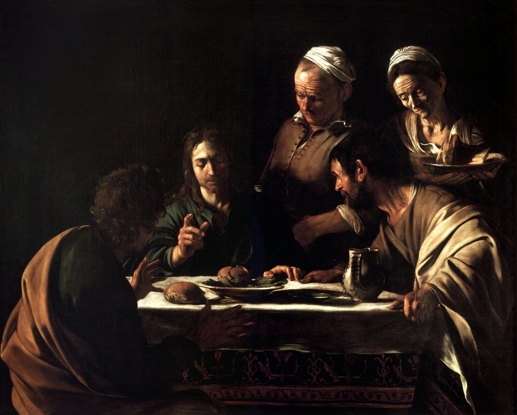 The Supper at Emmaus by Caravaggio (Milan Version)