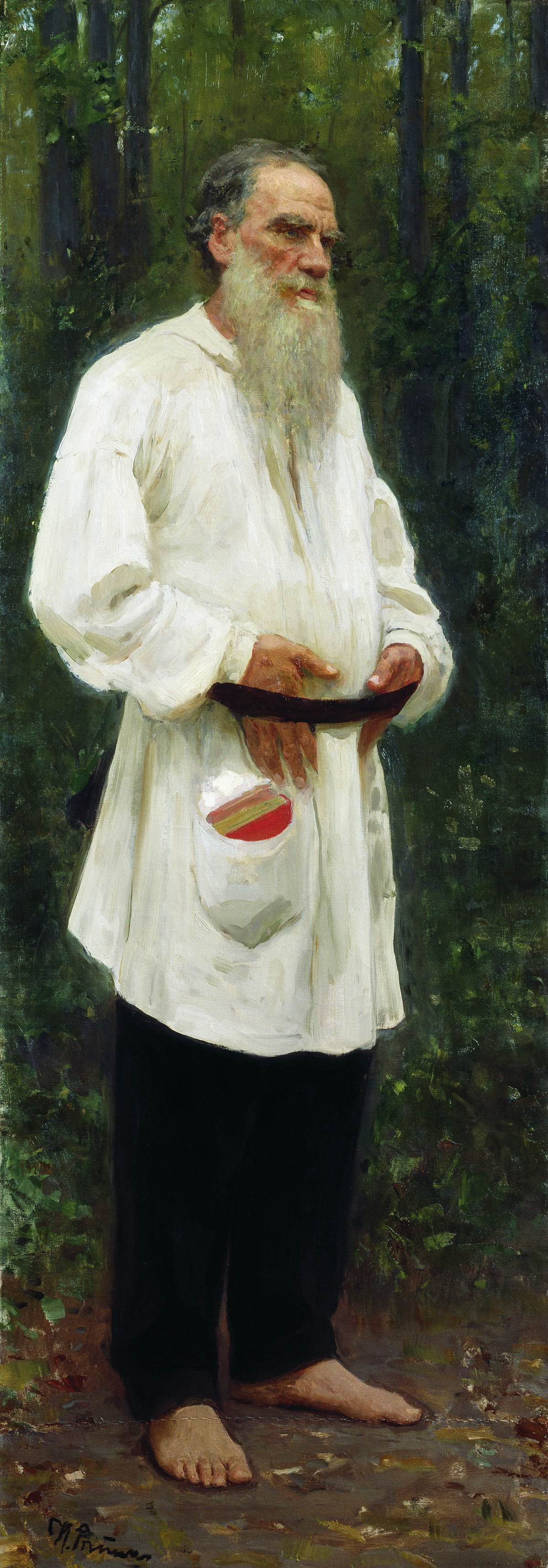 Tolstoy Dressed In Peasant Clothing by Ilya Repin