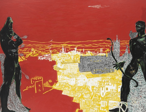 Red Sienna by Peter Doig (1985)