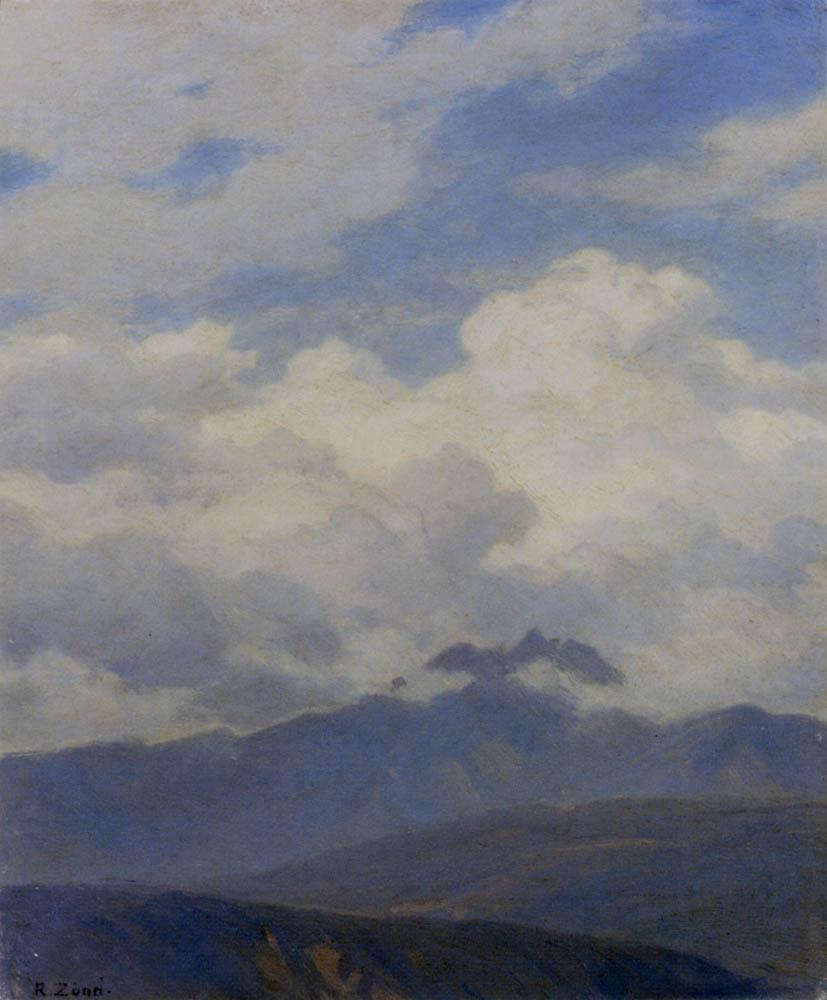 A View Of Mount Pilatus by Robert Zund