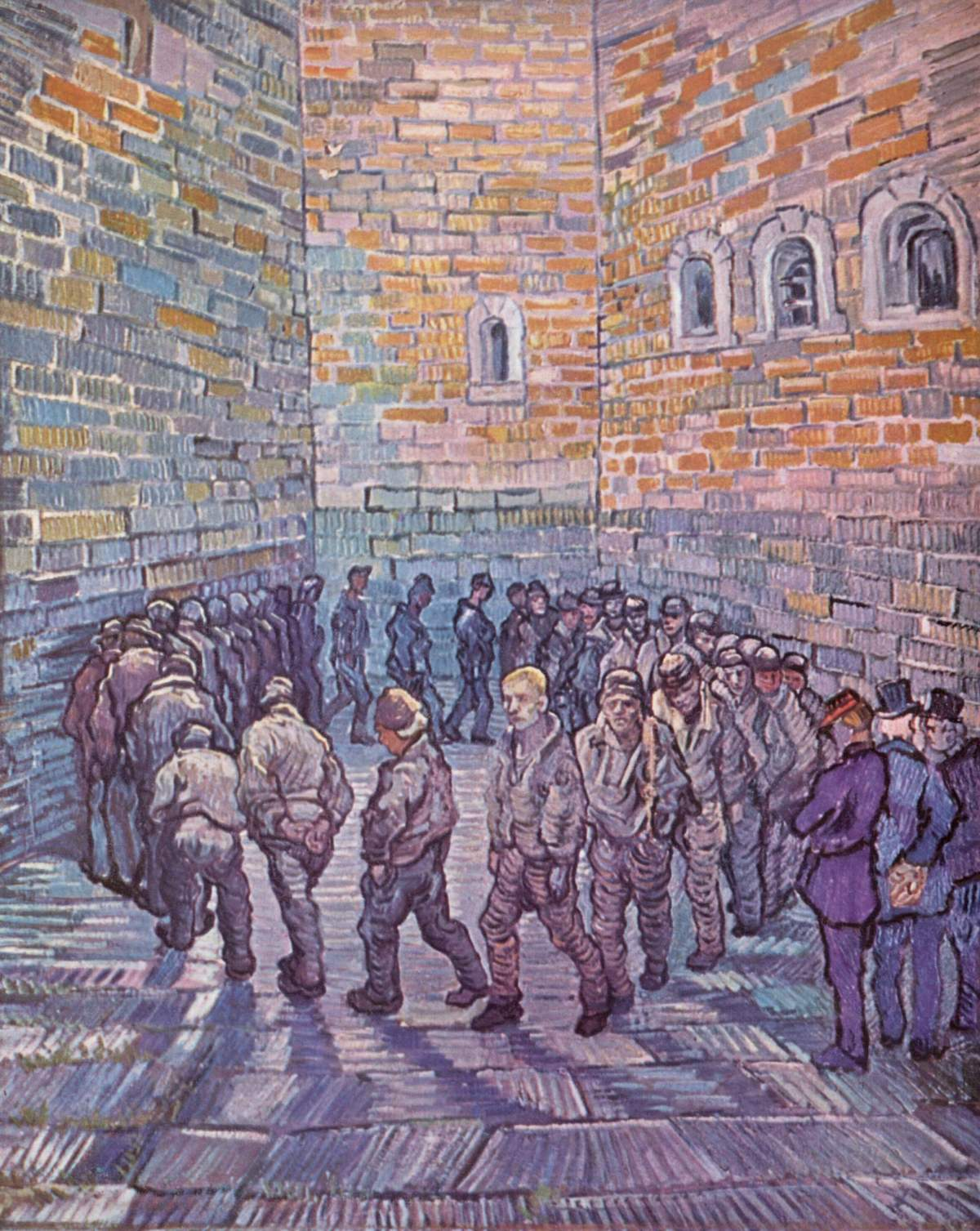 Prisoners' Round by Vincent van Gogh-Oil Painting