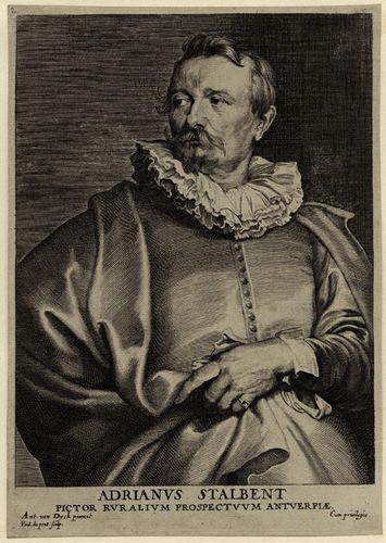NPG D28303; Adriaen van Stalbemt by Paul Pontius, after Sir Anthony Van Dyck