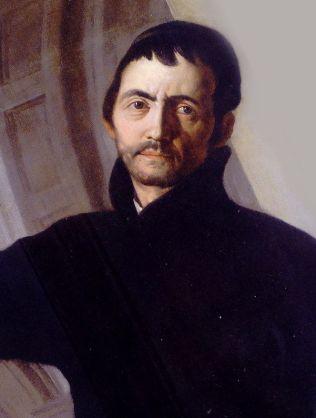 Selfportrait by Andrea Pozzo-Portrait Painting