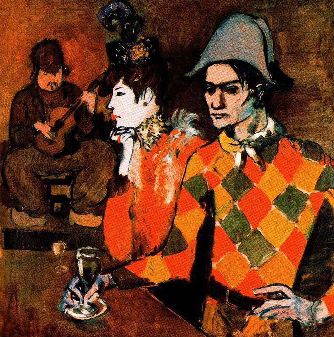 Au Lapin Agile by Pablo Picasso (1905)