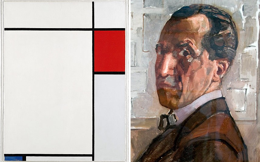 Composition with Red, Blue and Grey by Mondrian