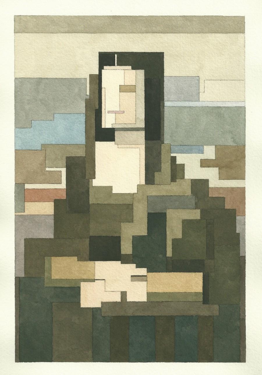 Mona Lisa - 8 bit