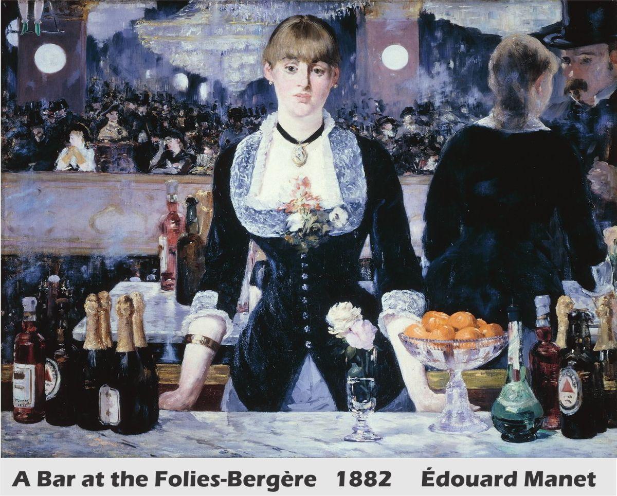 A Bar at the Folies-Bergère by Édouard Manet