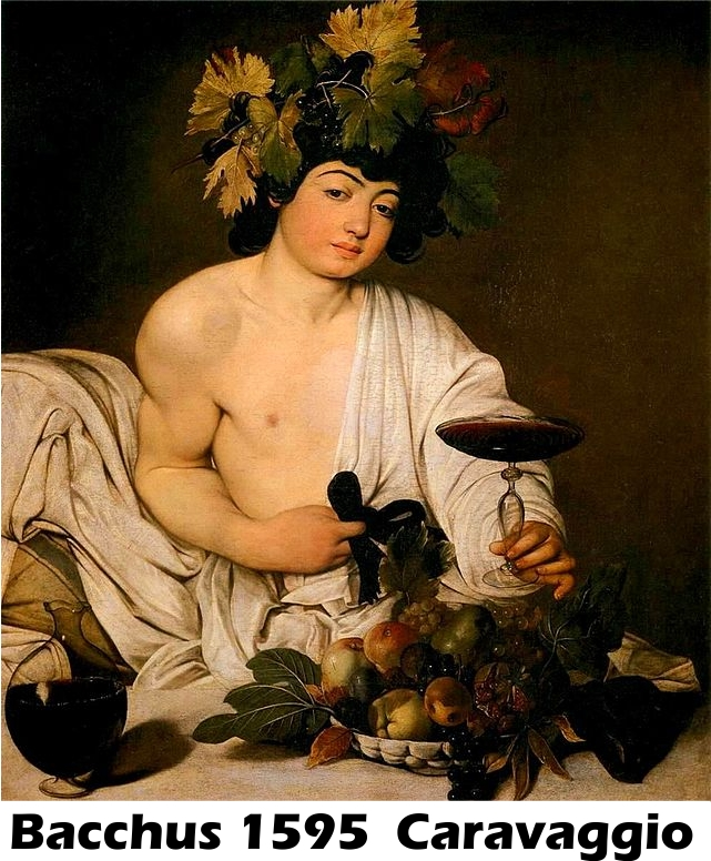 Bacchus by Caravaggio-History Painting