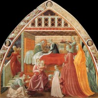 Birth of the Virgin by Paolo Uccello