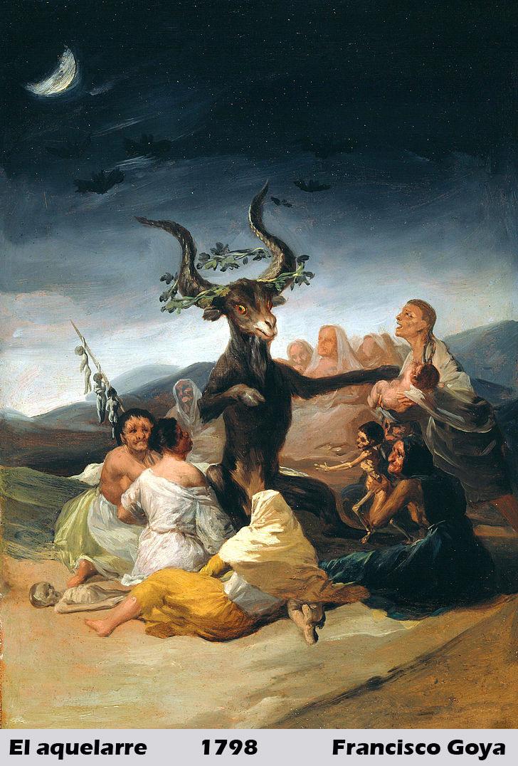 El aquelarre (The Sabbath of witches) by Francisco Goya