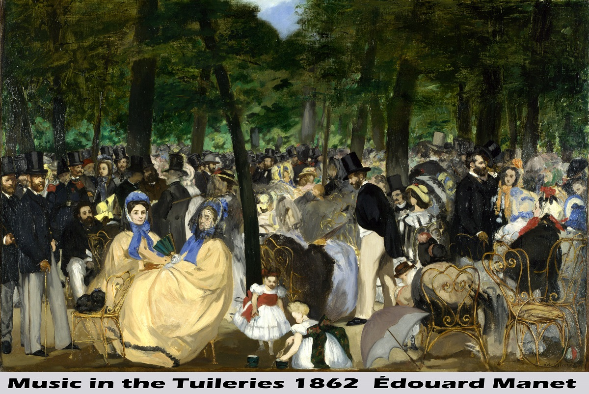 Music in the Tuileries by Édouard Manet