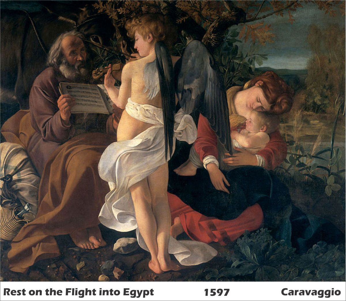 Rest on the Flight into Egypt by Caravaggio