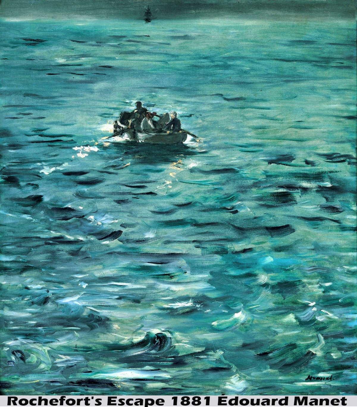 Rochefort's Escape by Édouard Manet