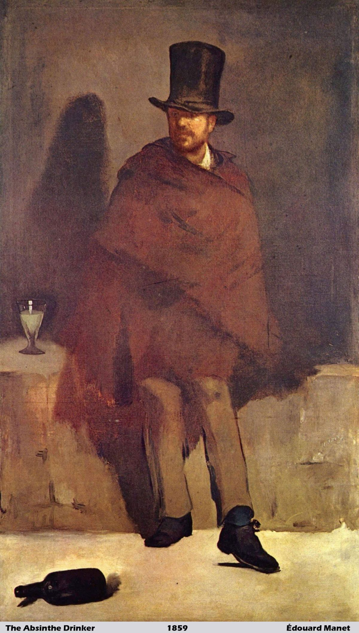 The Absinthe Drinker by Édouard Manet