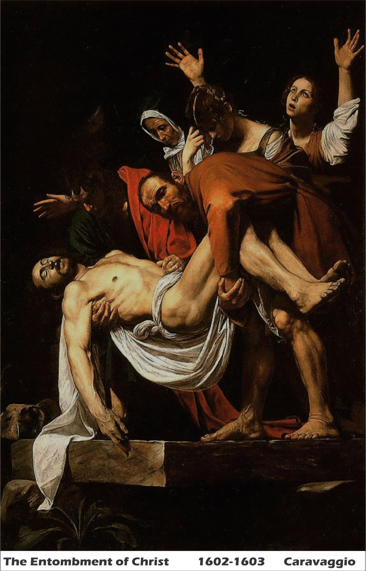 The Entombment of Christ by Caravaggio-History Painting