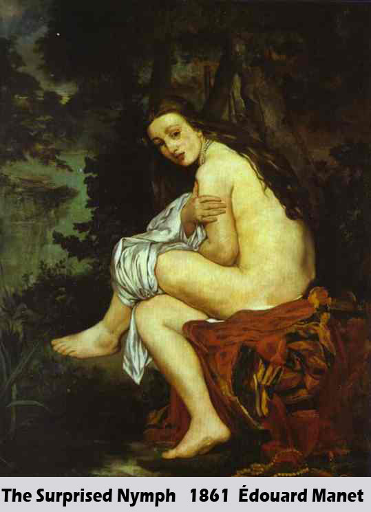 The Surprised Nymph by Édouard Manet-Portrait Painting