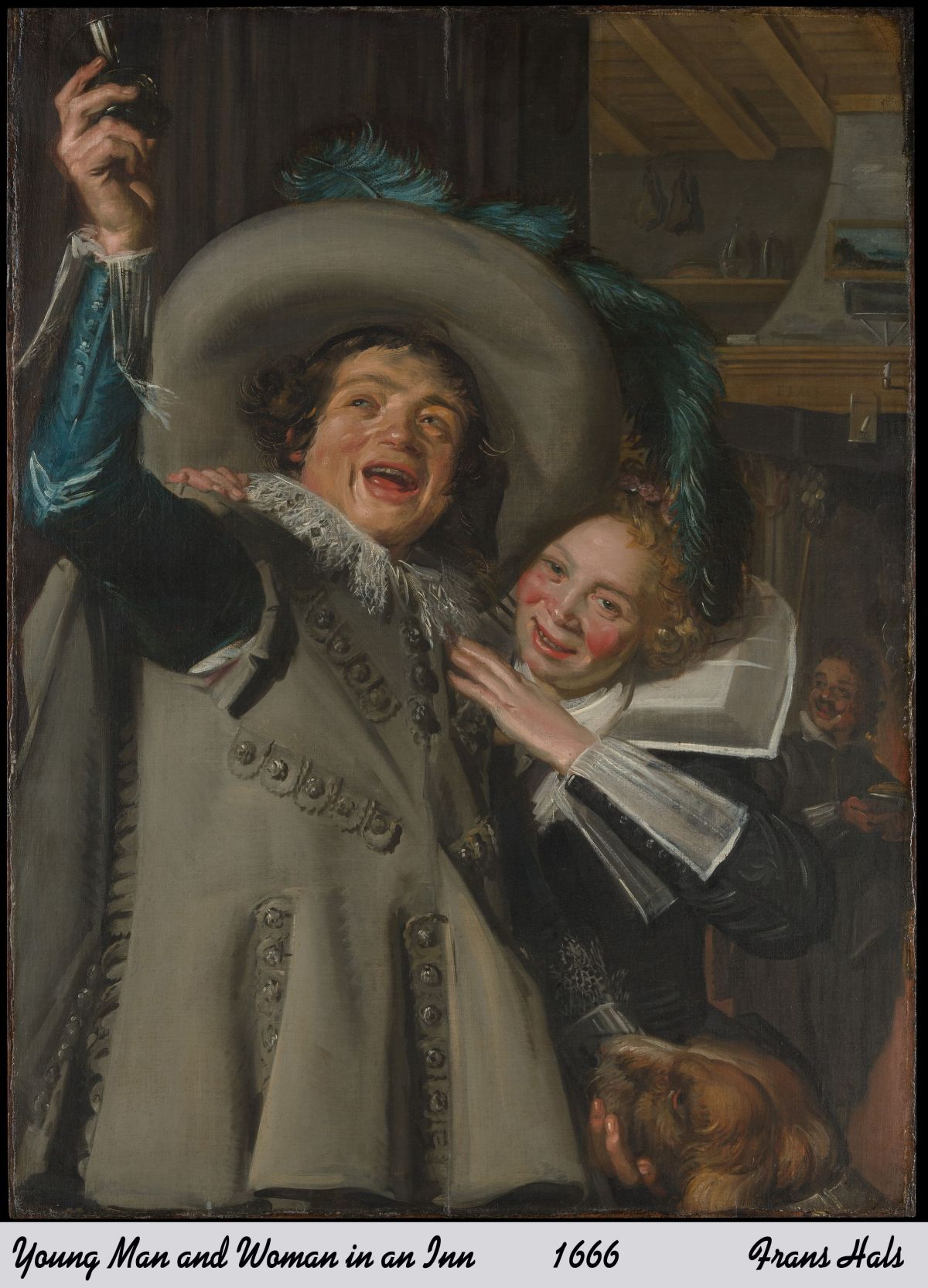 Young Man and Woman in an Inn by Frans Hals copy