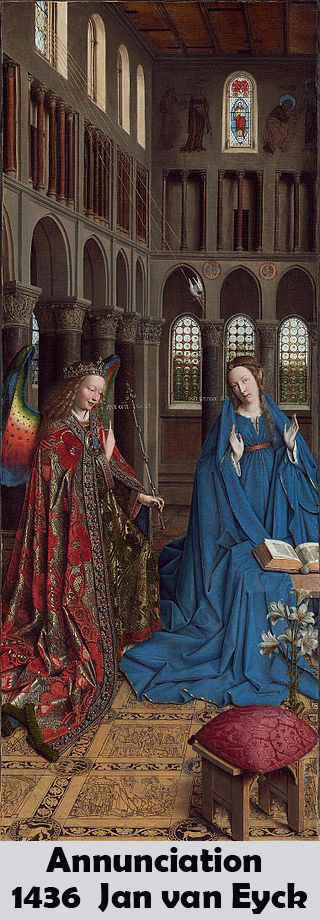 Annunciation by Jan van Eyck-History Painting