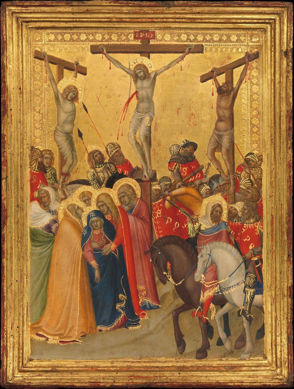 Crucifixion by Pietro Lorenzetti