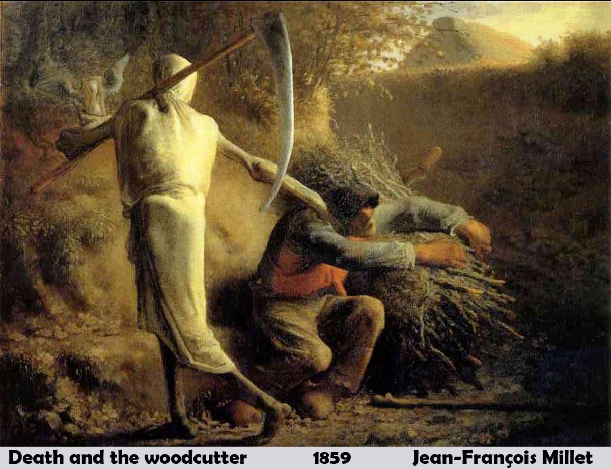 Death and the Woodcutter by Jean-François Millet