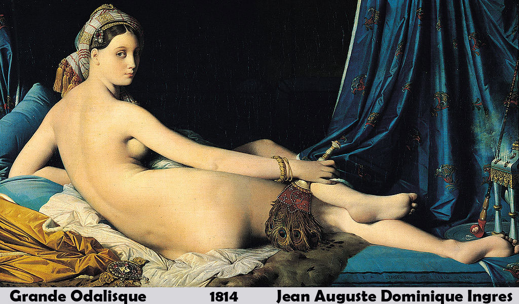 Grande Odalisque by Jean Auguste Dominique Ingres-French Painting