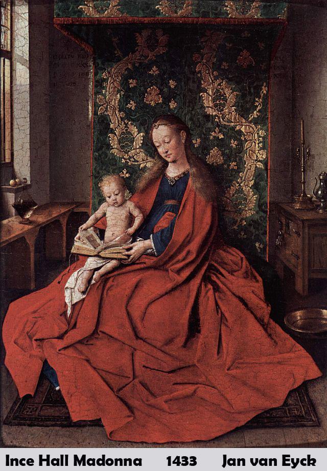 Ince Hall Madonna by Jan van Eyck-History Painting