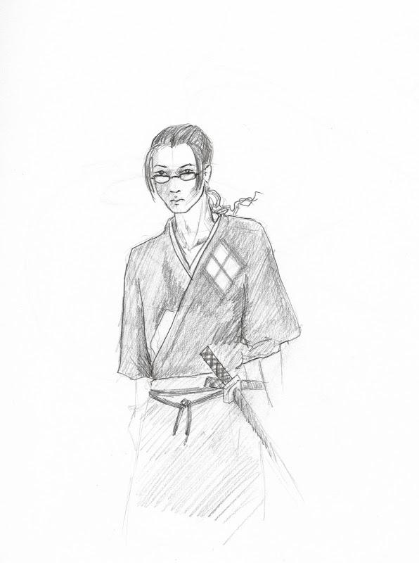 Jin from Samurai Champloo by S. Rain Lawrence